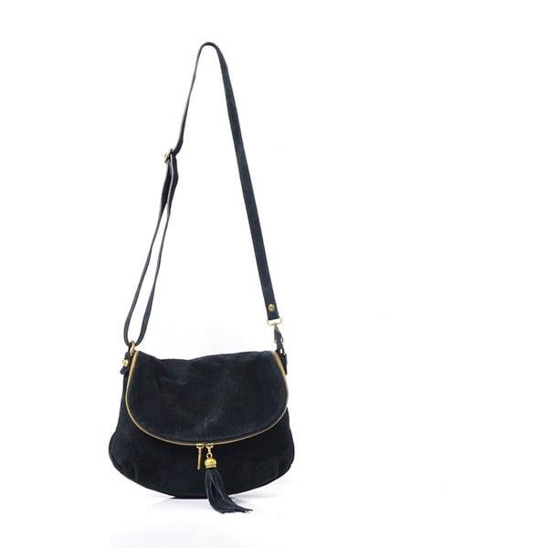 Kožená kabelka Louise, čierna