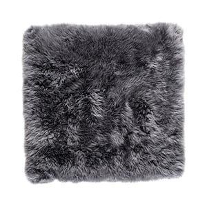 Sivý štvorcový koberec z ovčej vlny Royal Dream Zealand, 70×70cm