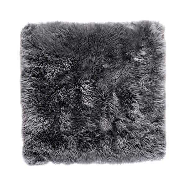 Sivý koberec z ovčej kožušiny Royal Dream Zealand, 70 x 70 cm