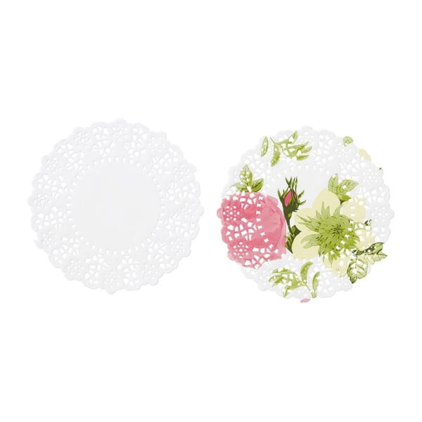 Sada 100 papierových podložiek pod pohár Floral