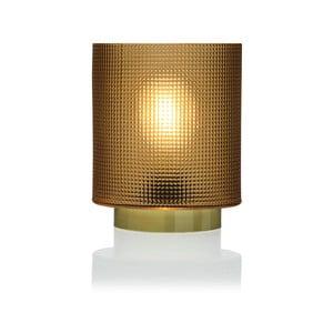 Žltá sklenená olejová LED lampa Versa Relax, ⌀11,8 cm