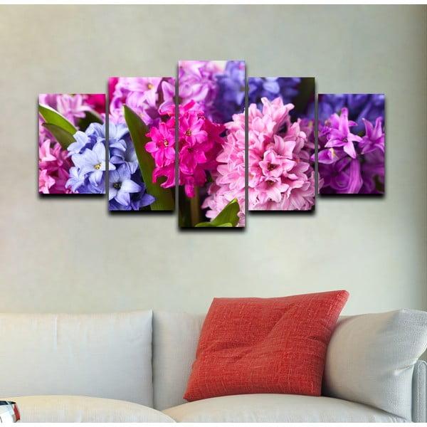 5-dielny obraz Ružová a fialová
