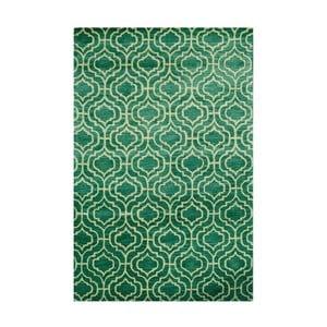 Ručne tuftovaný zelený koberec Dallas, 244x153cm