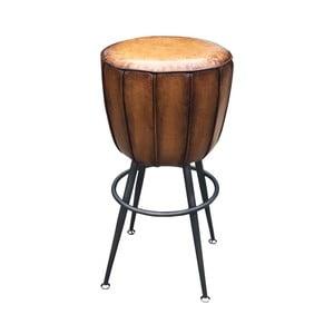 Stolička z hovädzej kože Antic Line, ø 46 cm