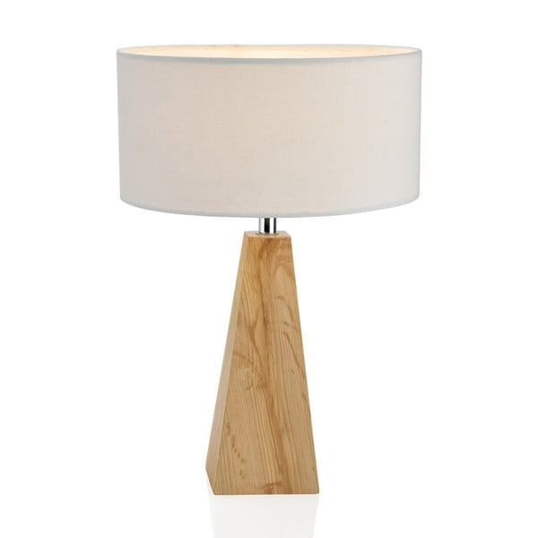 Drevená stolová lampa Conic