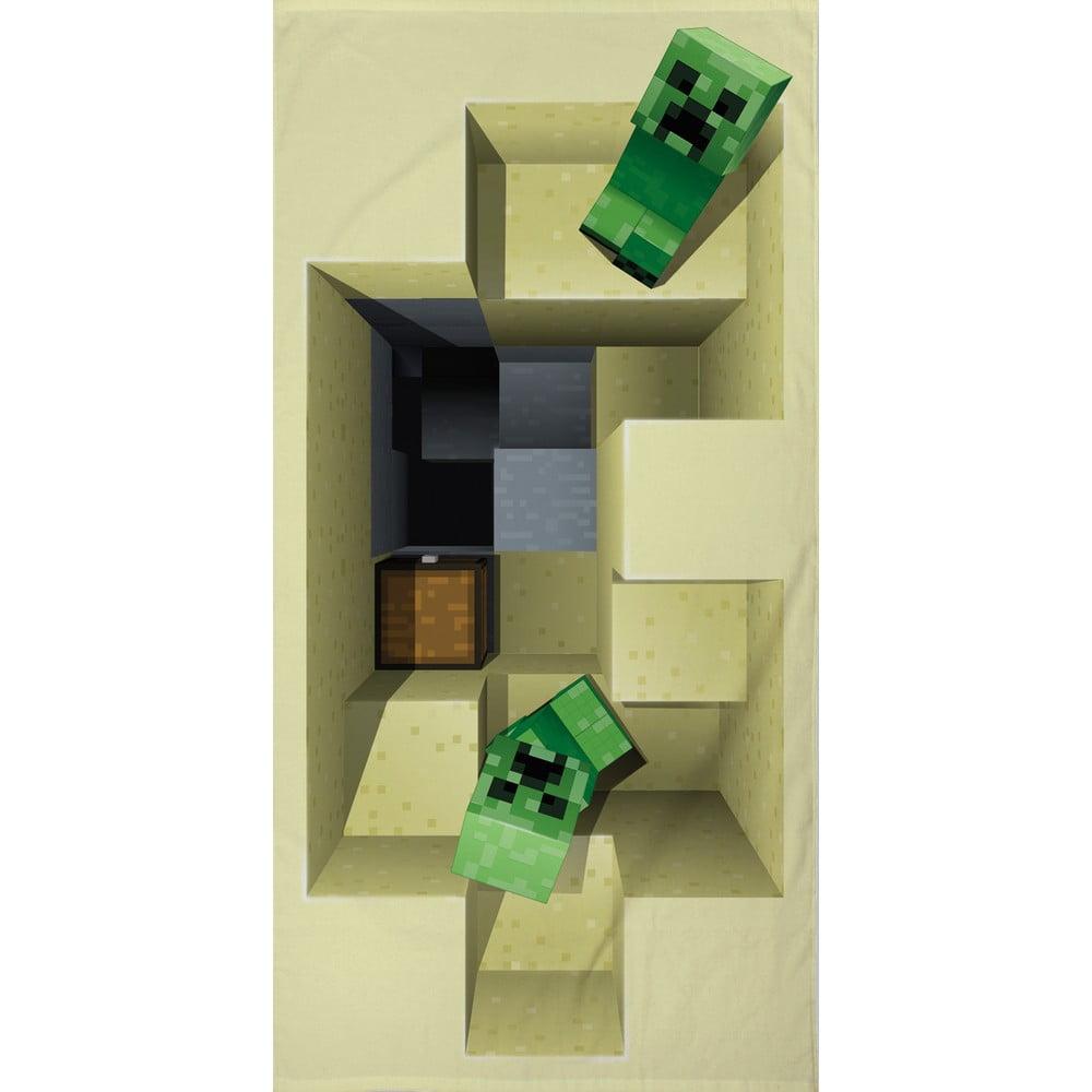 Detský bavlnený uterák Halantex Minecraft, 70 x 140 cm