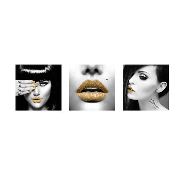 Samolepky Golden Lips