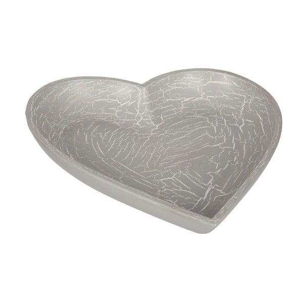 Drevená tácka Grey Heart