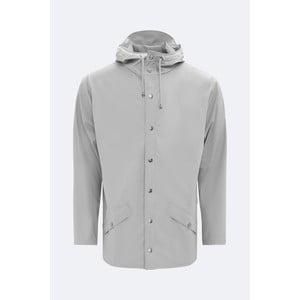 Sivá unisex bunda s vysokou vodoodolnosťou Rains Jacket, veľkosť XXS/XS