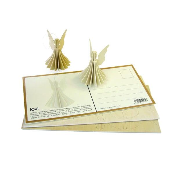 Skladacia pohľadnica Lovi Angel Natural, 9 cm
