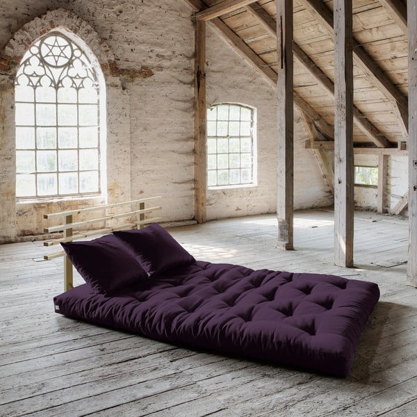 Rozkladacia pohovka Karup Shin Sano Natur/Purple