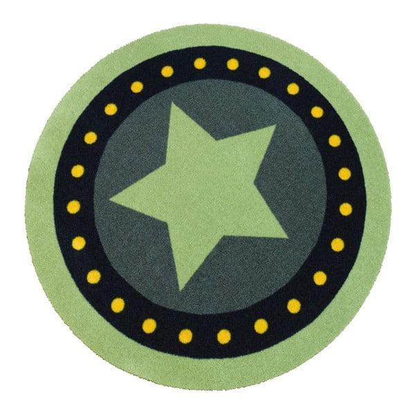 Detský zelený koberec Hanse Home Deko Hviezda, ⌀100cm