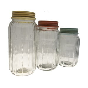 Sada 3 sklenených dóz Jar