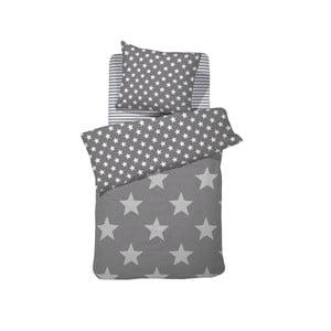 Sivé bavlnené posteľné obliečky Damai Starville Grey, 200×140 cm