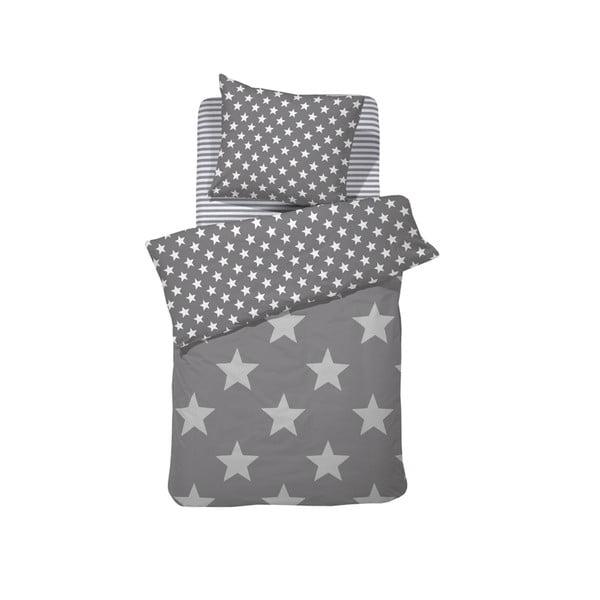 Sivé bavlnené posteľné obliečky Damai Starville Grey, 200 x 140 cm
