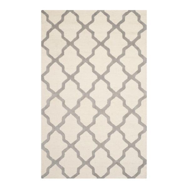 Vlnený koberec Ava White Orange, 182x274 cm