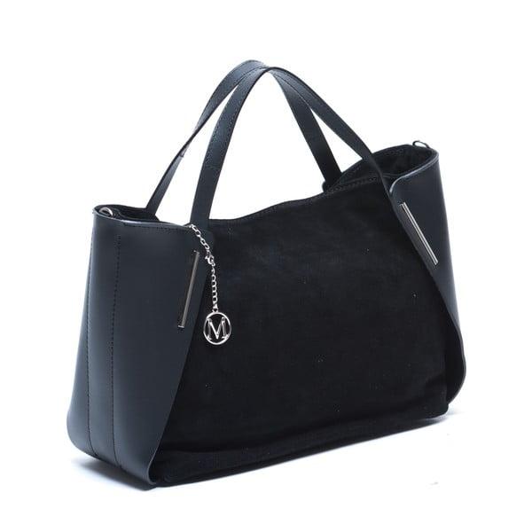 Kožená kabelka Mangotti 878, čierna