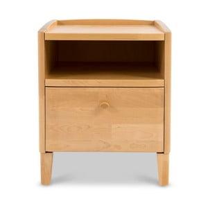 Ručne vyrobený nočný stolík zmasívneho brezového dreva Kiteen Matinea