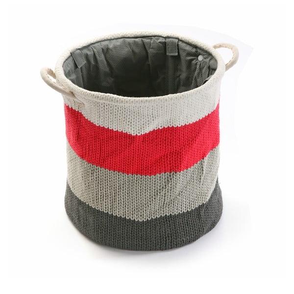 Okrúhly vlnený kôš na bielizeň Stripes