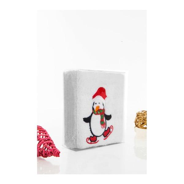 Osuška Christmas Penguin White, 30 x 50 cm