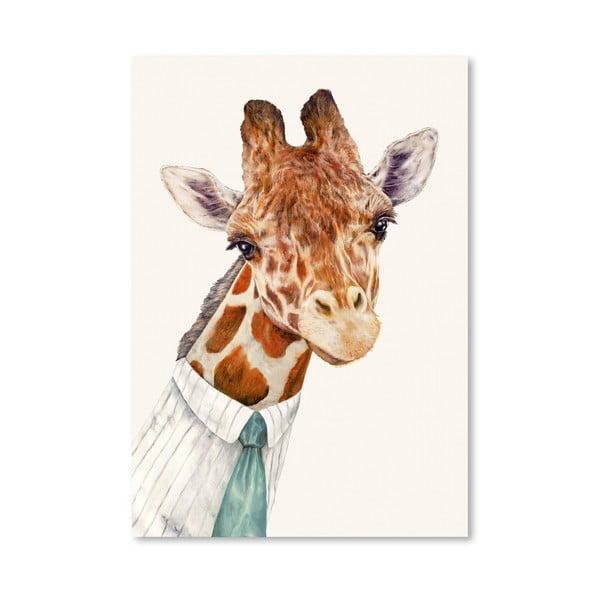 Plagát Mr. Giraffe, 30x42 cm