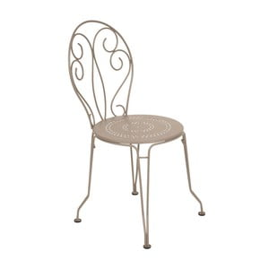 Svetlobéžová kovová stolička Fermob Montmartre
