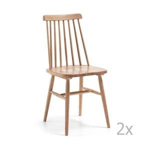 Sada 2 hnedých stoličiek La Forma Albeup