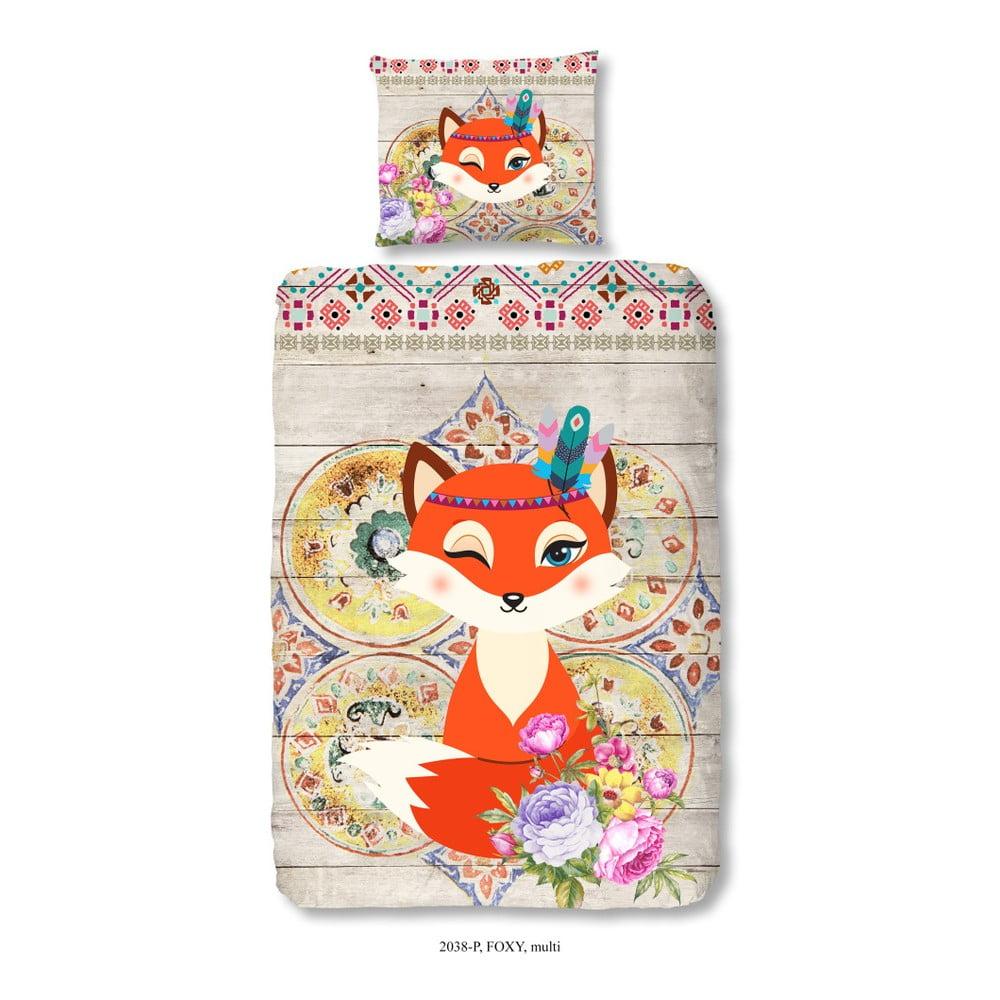 Detské bavlnené obliečky Muller Textiels Foxy, 140 × 200 cm