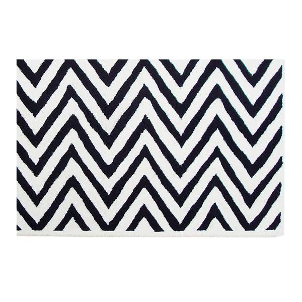 Vlnený koberec Ziggy Ivory Black, 153x244cm
