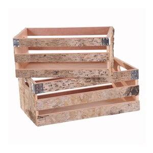 Sada 2 dekoratívnych drevených prepraviek Dino Bianchi Monza