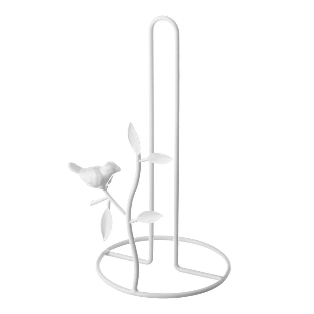 Biely stojan na kuchynské papierové utierky Unimasa Nature, 16 × 32 x 16 cm