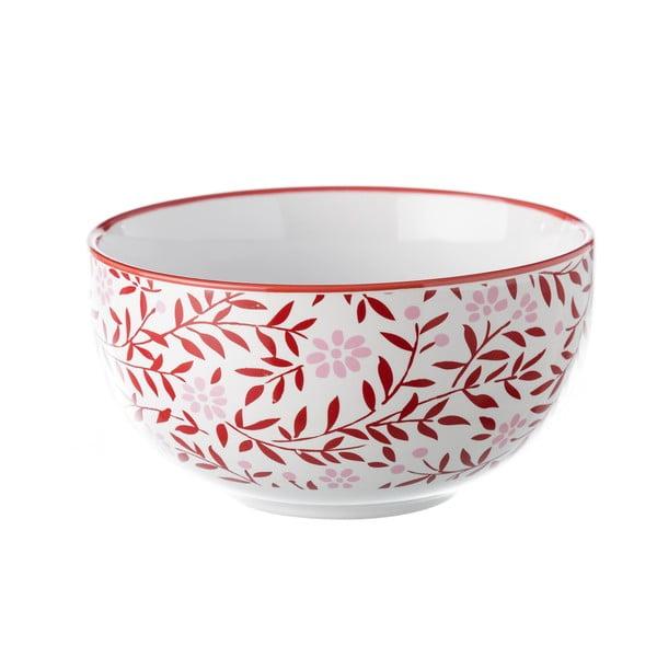 Červeno-biela miska Unimasa REDOS, 625 ml