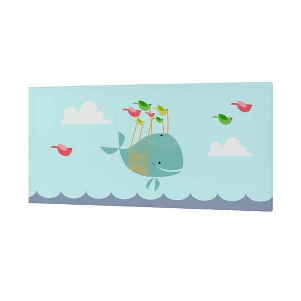 Nástenný obrázok Whale Ride, 27x54 cm