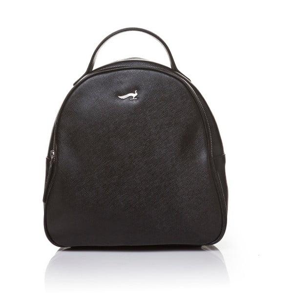 Kožený batoh Marta Ponti Pavone, čierna