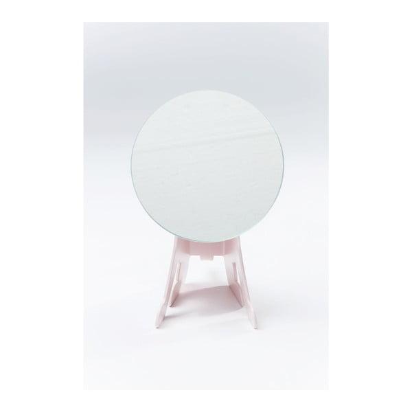Ružové stolové zrkadlo Kare Design Dog