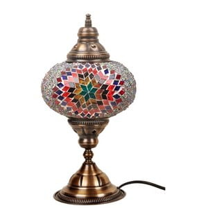 Sklenená lampa Homemania Persefona, ⌀17cm