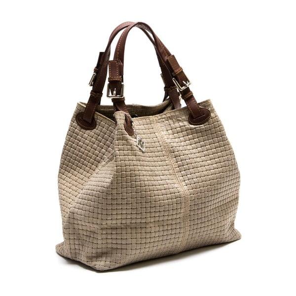 Kožená kabelka Lola, sivohnedá