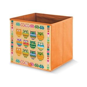 Oranžová úložná krabica Domopak Owls