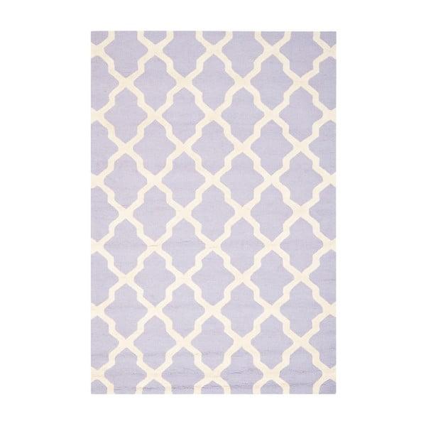 Vlnený koberec Ava Light Purple, 152x243 cm