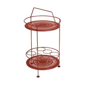Červený záhradný barový stolík Fermob Montmartre, ⌀ 40 cm