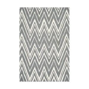 Vlnený koberec Luca Grey, 121x182 cm