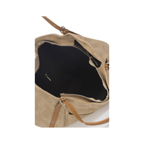 Kožená kabelka Krole Karin, béžová