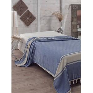 Prikrývka na posteľ Elmas Blue, 200x240 cm
