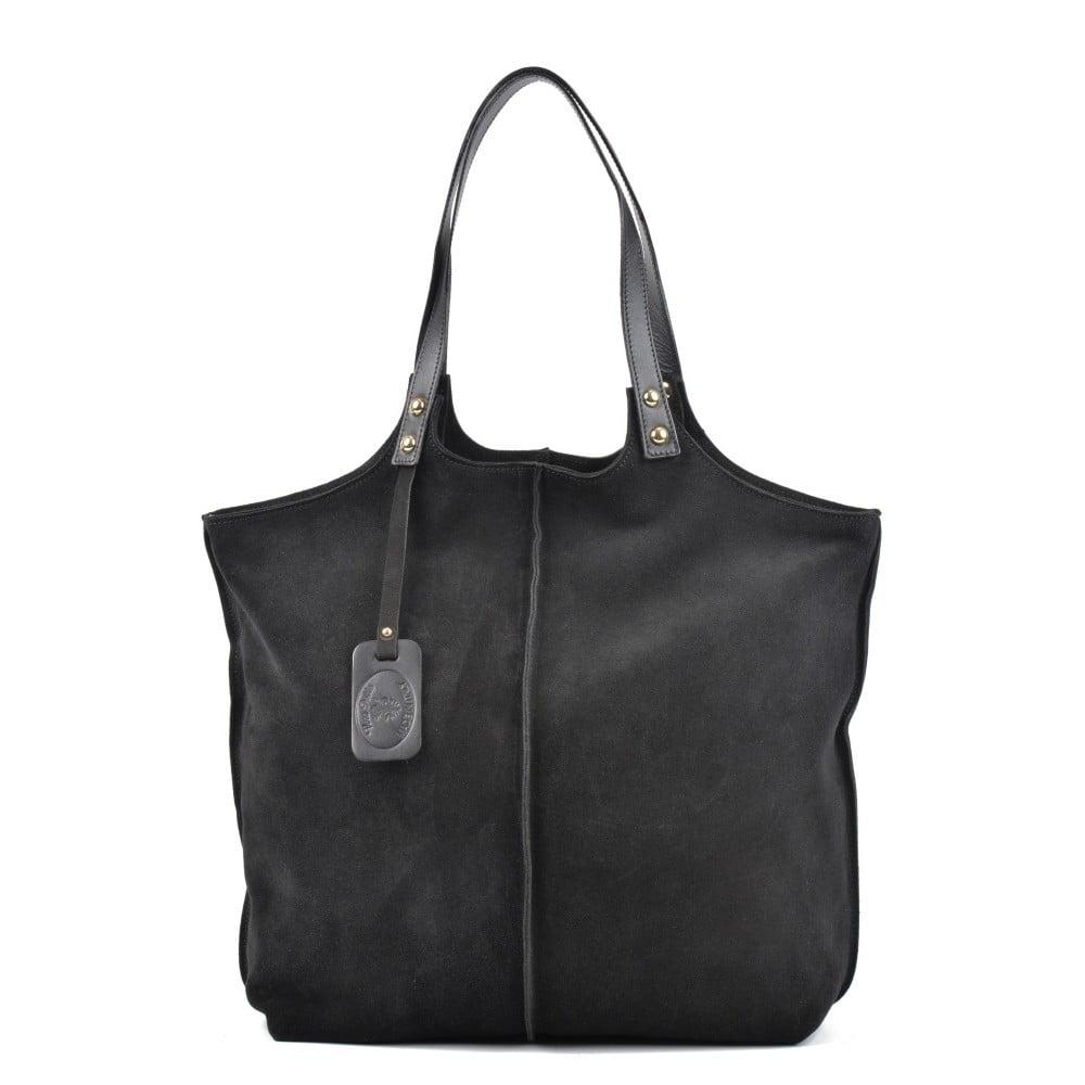 Čierna kožená kabelka Roberta M Magna