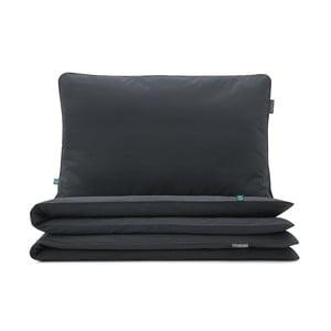 Čierne bavlnené obliečky na dvojposteľ Mumla, 200 x 220 cm