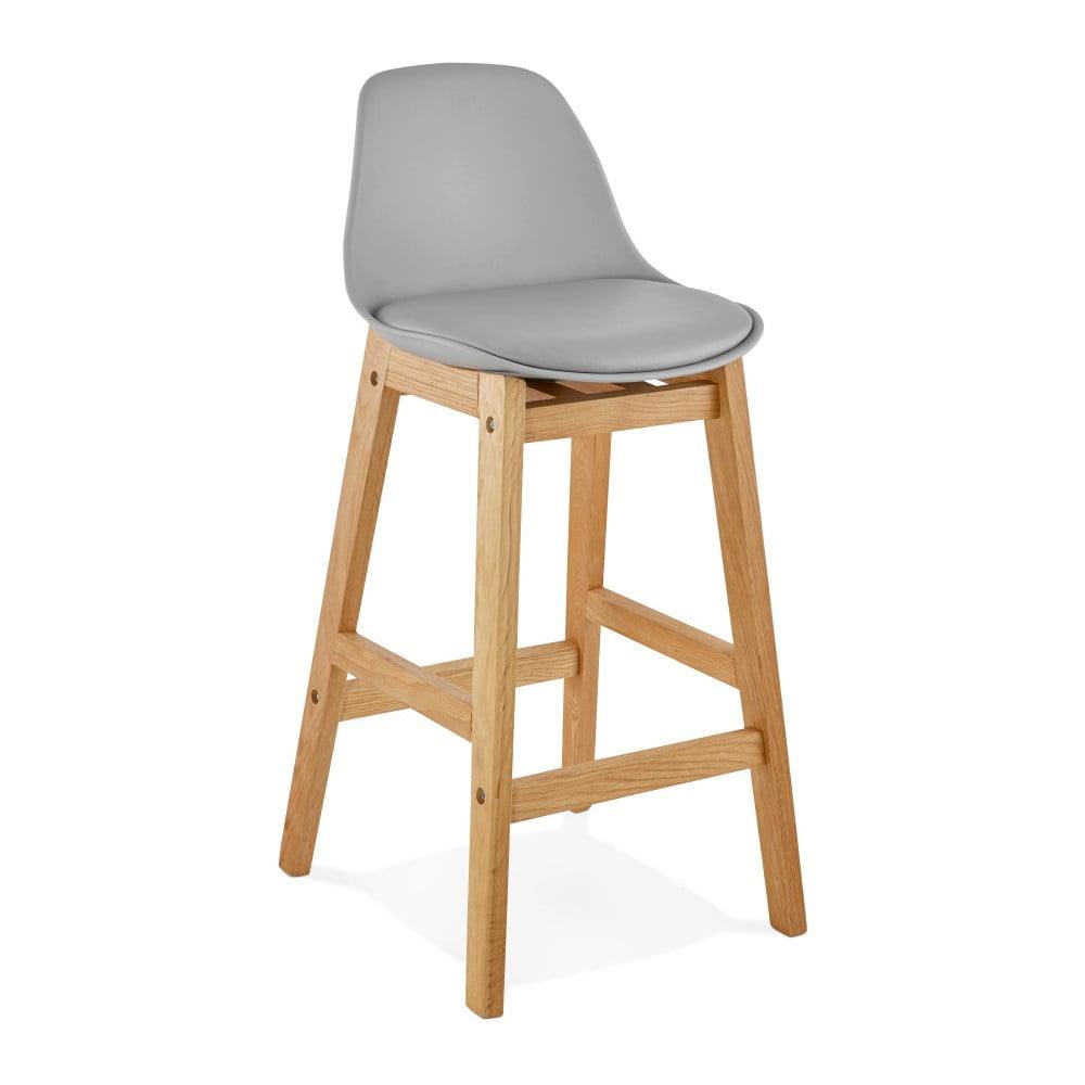 Sivá barová stolička Kokoon Elody, výška 86,5 cm