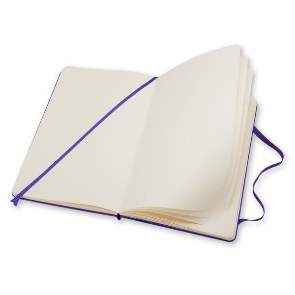 Veľký fialový zápisník Moleskine Hard, bezlinajok