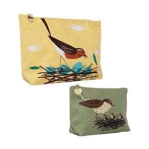 Sada 2 toaletných taštičiek Birdy Robin