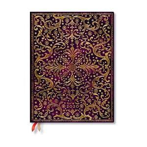 Purpurovočervený diár na rok 2020 v tvrdej väzbe Paperblanks Aurelia Bold, 368 strán