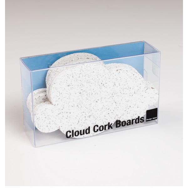 Sada 4 korkových násteniek Design Ideas Mini Cloud